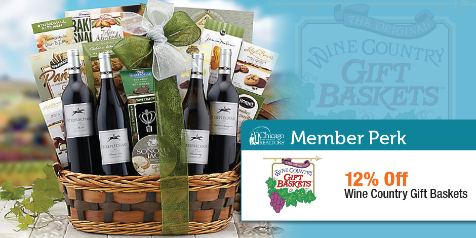 wine country gift baskets chicago association of realtors