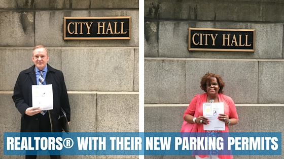 REALTORS® with their new parking permits