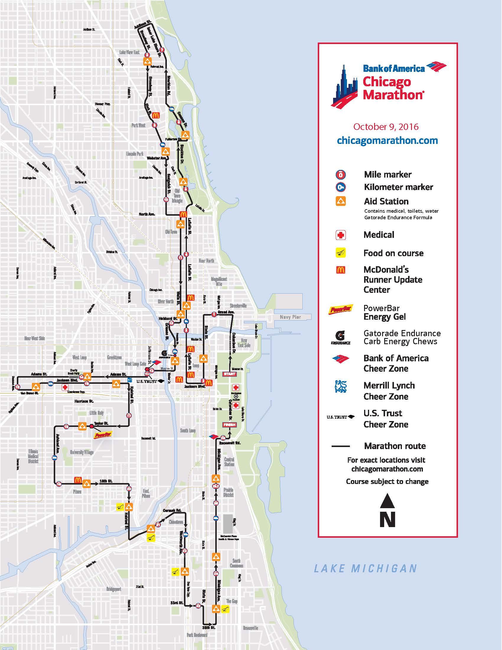 Chicago Marathon 2016 Street Closures  Chicago Association of