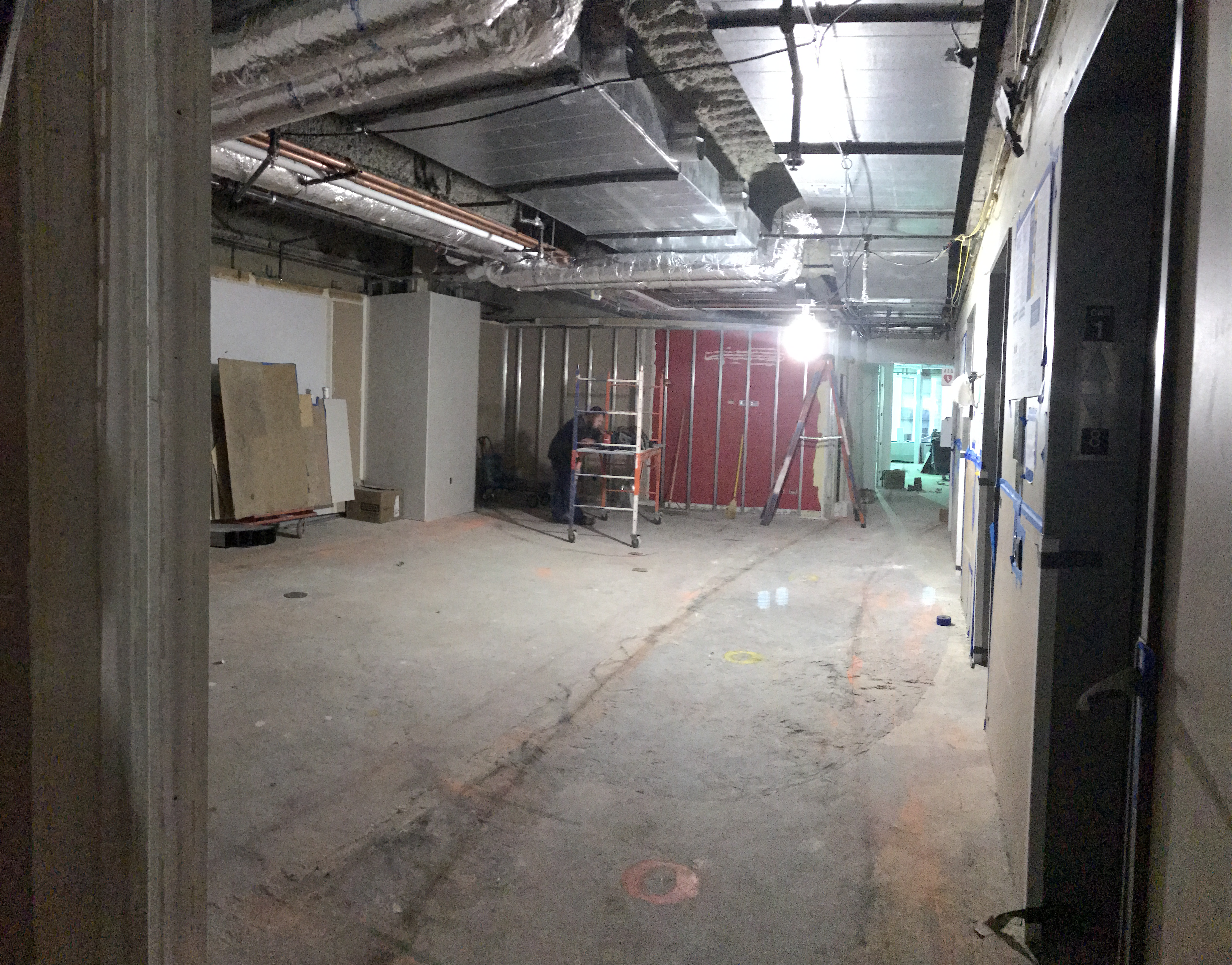 The Move to 430 N Michigan Drywall