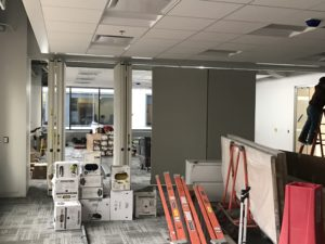 Moveable walls in classrooms